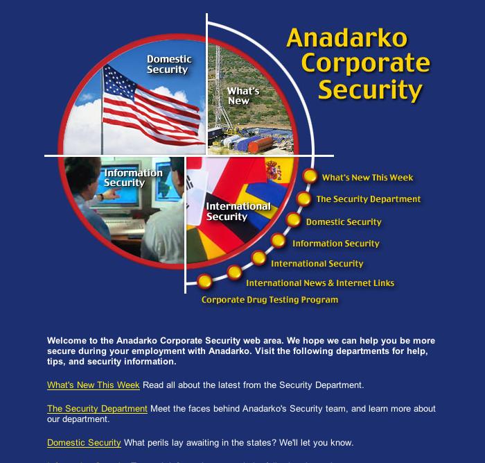 Anadarko Intranet