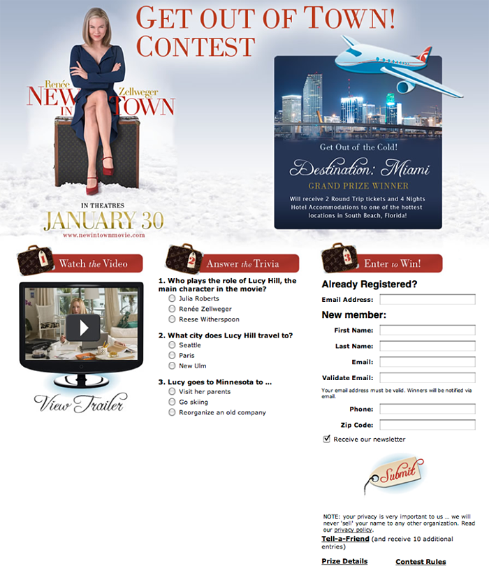 New in Town Contest